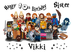 Lego Harry Potter personalised A5 birthday card - any NAME AGE RELATION