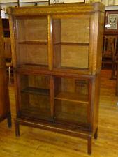 Antique Danner Quartered Mission Oak Stacking Bookcase Book Shelf Cabinet