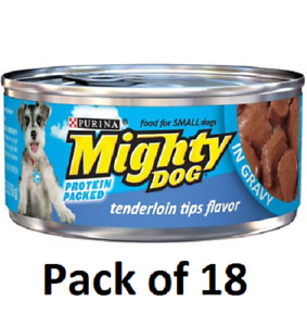 (18) Mighty Dog Tenderloin Tips Flavor in Savory Sauce Purina Mighty Dog Tenderl