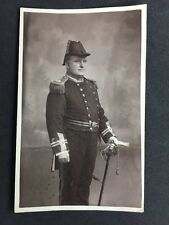 Vintage RPPC: Military #M265: Dress Uniform Officer Sword Bicorn Hat Navy