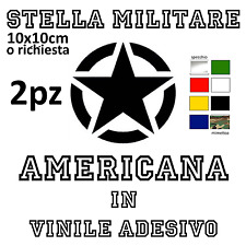 2X VINILE ADESIVO STELLA MILITARE AMERICANA MIMETICA RICAMBIO TUNING MOTO CASCO