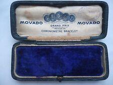 Rare Antique Movado chronometre bracelet watch box Grand Prix Bruxelles 1910