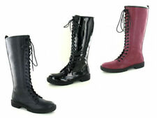 Lace Up Knee High Boots Casual Shoes for Women