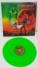 Iron Angel Hellish Crossfire Neon Green Vinyl LP Record new