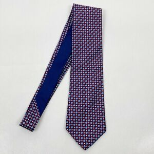 """Tommy Hilfiger Mens 58"""" 100% Silk Red and Blue Tie"""