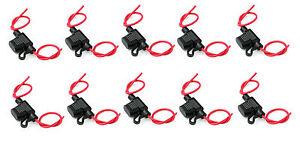 New In line Mini Blade fuse holders, splash proof, Pack of 10, 20Amp, 12V Car UK