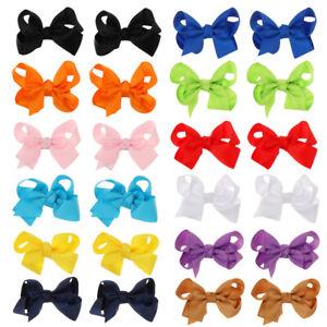 3 Inch Candy Color School Supplies Hair Accessories Hair Clip Bow Hairpins