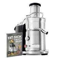 Breville ikon 800JEXL Bundle Juice Fountain Elite w/ Fat, Sick & Nearly Dead DVD