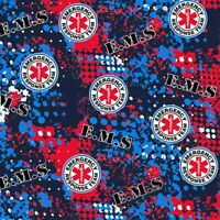 EMS Rescue Abstract Cotton Fabric-100/% Cotton