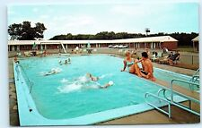 *Esquire Motel Seekonk Massachusetts Swimming Pool Diving Board Postcard B89
