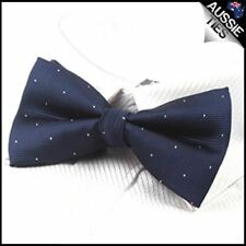 Midnight Blue with small polka dots bow tie Men's Bowtie