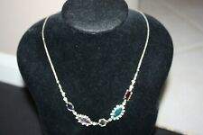 Kendra Scott $120 JUNE Long Adjustable Necklace Brass Multi Gem Color Mix