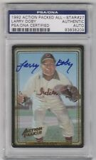 1992 Action Packed LARRY DOBY Cleveland Indians Signed Autograph HOF PSA/DNA