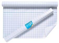 BOOK Cover Pellicola 50cm x 10m appiccicoso posteriore in plastica trasparente autoadesivo Griglia esercizio