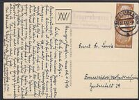 DR Mi Nr. 513 MeF mit Posthilfsst. Rengershausen - Frankenberg auf AK 1941