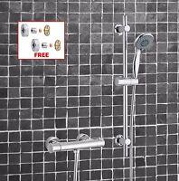 Thermostatic Exposed Shower Bar Valve Mixer Adjustable Riser Kit  + Easy Fit Kit