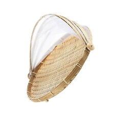 Bamboo Serving Food Tent Basket Bread Fruit Cover Picnic Basket no hole M