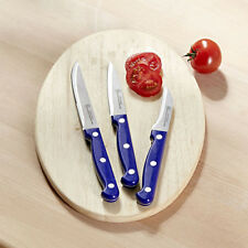 3tlg Messerset blau Messer Set Küchenmesser Schälmesser Kochmesser Edelstahl