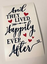Happily Ever After Valentines Wine Bottle Decal Vinyl Sticker Decor Only