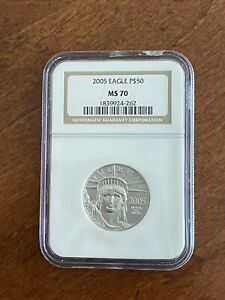 2005 American Platinum Eagle 1/2 oz $50 - NGC MS70