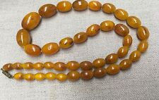 "Vintage Baltic Butterscoth Amber Beads 26"" long weighing approximatel 49.2 grams"