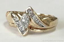 Estate Jewelry Ladies 0.25 Ctw Diamond Ring 14K Yellow Gold Band Size 5