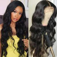 Pre Plucked Malaysian Remy Human Hair Wig Lace Front Wigs Wavy With Baby Hair Rq