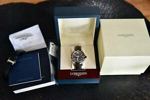 Longines Admiral GMT Automatic Watch . Brown/Bronze Dial & 2 Genuine Bands.