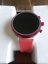 New Fossil Women's Gen 4 Red Magenta Coral Touchscreen Sport Smartwatch FTW6027J