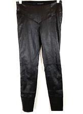 Kiki De Montparnasse Womens Nuit Leather Legging Ankle Zip Black size XS