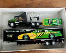 💥Signed John Deere Motorsports Chad Little Transporter 97 1:64 Scale Die Cast