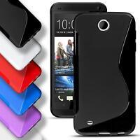 HTC Desire 300 Silicone Gel S Line Case Cover Ultra Thin Slim Back Bumper