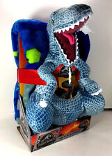 "NEW Dinosaur JURASSIC WORLD 40"" x 50"" Soft THROW BLANKET & PILLOW Plush Figure"