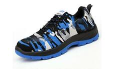 Mens Women Breathable Camo Steel Toe Cap Safety Work Boots Sports Shoes Sneakers