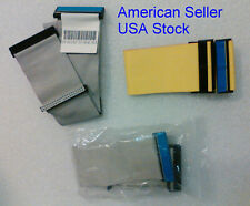 """3pack - IDE, EIDE, PATA Ultra ATA133/100 40-Pin 80-Wire drive ribbon cables ~17"""""""