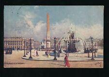 France PARIS Place de la Concorde Tuck Oilette 951 #46 French Edition PPC 1909