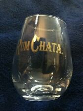 """New listing (1) Rumchata Cocktail Drinking Glasses - Brand New - 4""""- Weighted Non-Tip Reflex"""