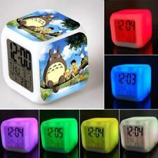 7 Color Changing LED Night Light My Neighbor Totoro Figures Alarm Clock Toy Gift