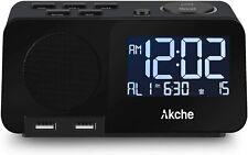 Alarm Clock with Fm Radio Night Light Digital Alarm Clocks for Bedrooms.