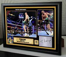 "Tyson Fury v Deontay Wilder 2 Las Vegas Framed Canvas Print Signed ""Great Gift"""
