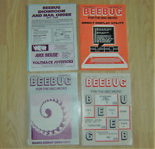 LOT OF BEEBUG BBC MICRO COMPUTER SYSTEM MAGAZINES AND PAPERWORK