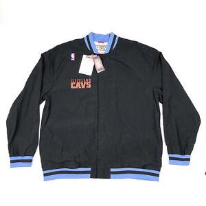 Cleveland Cavaliers Mens 3XL / 56 Mitchell & Ness Hardwood Black Warm Up Jacket