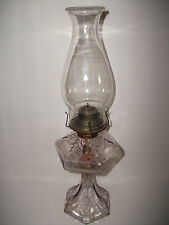 ANTIQUE 1800'S GORGEOUS GLASS OIL LAMP