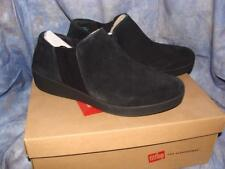 NEW W/BOX WOMENS FITFLOP SIZE 10 SUPERCHELSEA SLIP ONS BLACK SUEDE~FREE US SHIP