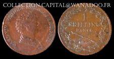 Suéde 1 Skilling Banco 1840 Charles XVI Cuivre