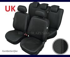Tailored Seat Covers Black Eco Leather For HONDA CIVIC 2001 - ONWARDS