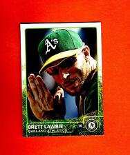 2015 Topps Update Brett Lawrie US#265 B hands together oakland A'S  SP Photo