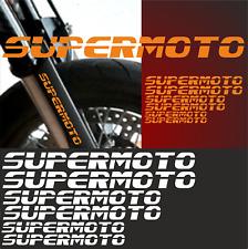 6x SUPERMOTO Aufkleber Racing passt für KTM Motorrad Aufkleber 640 690 Sticker F