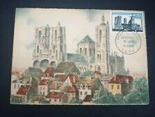 FRANCE PREMIER JOUR FDC YVERT 1235 CATHEDRALE NOTRE DAME LAON 0,15F LAON 1960
