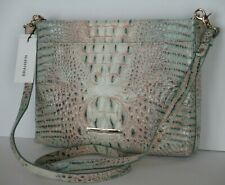 NWT BRAHMIN Melbourne Remy Crossbody/Clutch Bag Aquarelle Embossed Leather